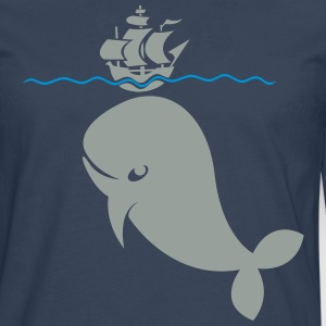 Wal under pirate ship T-Shirts - Men's Premium Longsleeve Shirt