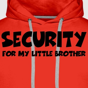 Security for my little brother T-shirts - Premiumluvtröja herr