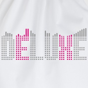 Deluxe music equalizer T-shirts - Sportstaske