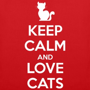 Keep Calm and Love Cats (dark) T-Shirts - Tote Bag
