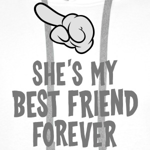 She´s My Best Friend Forever (left) T-Shirts - Männer Premium Hoodie