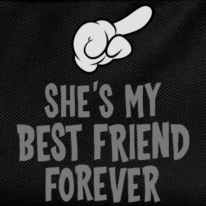 She´s My Best Friend Forever (right) T-Shirts - Kinder Rucksack
