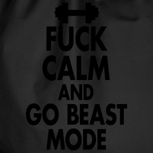 Fuck Calm And Go Beastmode - Fitness, Bodybuilding Tank Tops - Drawstring Bag