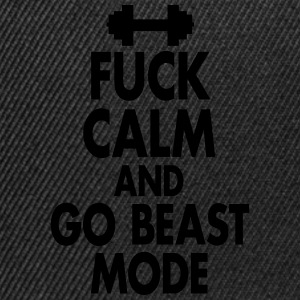 Fuck Calm And Go Beastmode - Fitness, Bodybuilding Canotte - Snapback Cap
