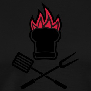 Barbecue on fire  Aprons - Men's Premium T-Shirt