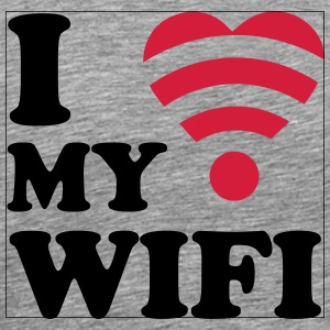 I love my wifi Manches longues - T-shirt Premium Homme