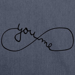 You And Me Forever (Symbol) Camisetas - Bandolera de material reciclado