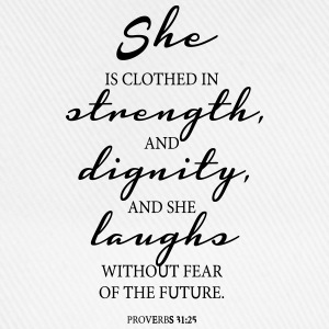 She is clothed in Strength T-Shirts - Baseballkappe