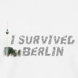 I survived Berlin Buttons & Anstecker - Männer Premium T-Shirt