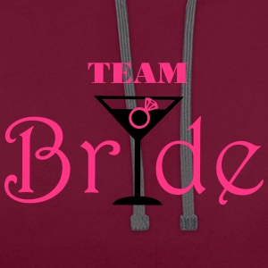 Team Bride Cocktail Tops - Contrast Colour Hoodie