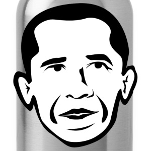 Barak Obama black white T-Shirts - Water Bottle