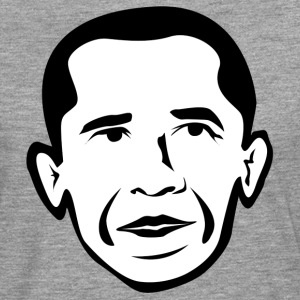 Barak Obama black white T-Shirts - Men's Premium Longsleeve Shirt