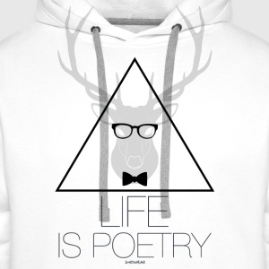 Life is Poetry T-Shirts - Men's Premium Hoodie