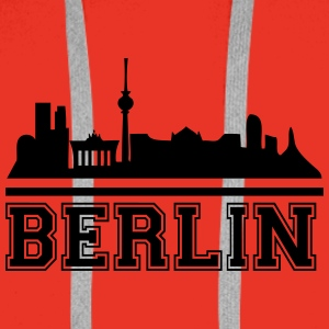 berlin_skyline_2 T-Shirts - Men's Premium Hoodie