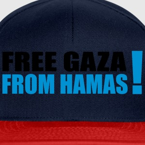 free gaza from hamas Bags & Backpacks - Snapback Cap