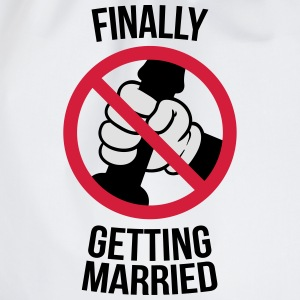 Finally getting married with cock, jerk, wank 3c Tee shirts - Sac de sport léger