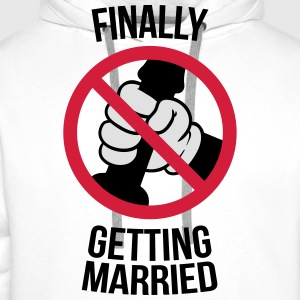 Finally getting married with cock, jerk, wank 3c T-Shirts - Männer Premium Hoodie