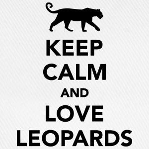 Keep calm and love leopards T-Shirts - Baseballkappe