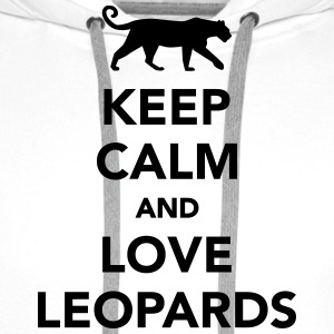 Keep calm and love leopards T-Shirts - Männer Premium Hoodie