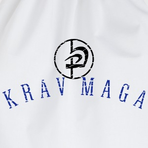 krav maga circle_vec_2 en T-Shirts - Drawstring Bag