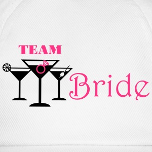 team bride cocktails T-shirts - Baseballcap