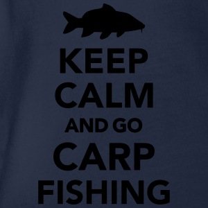 Keep calm and carp fishing T-Shirts - Baby Bio-Kurzarm-Body