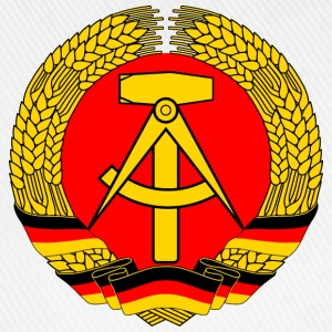 East Germany Crest Flag Wreath GDR DDR Emblem T-Shirts - Baseball Cap
