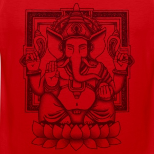 Ganesha Black Distressed T-Shirts - Men's Premium Tank Top
