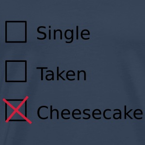 Single Taken Cheesecake Toppe - Herre premium T-shirt