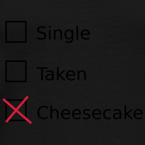 Single Taken Cheesecake Bags & Backpacks - Men's Premium T-Shirt