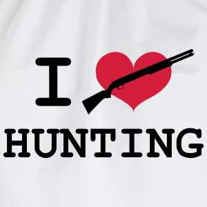 I Love Hunting T-shirts - Gymtas