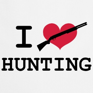 I Love Hunting T-shirts - Forklæde