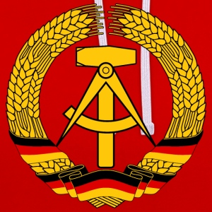 East Germany Crest Flag Wreath GDR DDR Emblem T-Shirts - Contrast Colour Hoodie