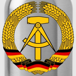 East Germany Crest Flag Wreath GDR DDR Emblem T-Shirts - Water Bottle