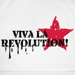 Viva la Revolution, Star, Grunge, Anarchy, Punk,   T-shirts - Baseballcap