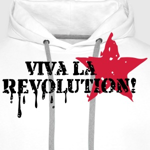 Viva la Revolution, Star, Grunge, Anarchy, Punk,   Tee shirts - Sweat-shirt à capuche Premium pour hommes