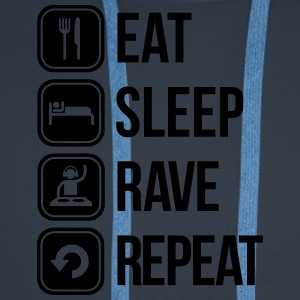 eat sleep rave repeat T-skjorter - Premium hettegenser for menn