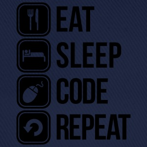 eat sleep code T-skjorter - Baseballcap