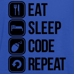 eat sleep code T-skjorter - Singlet for kvinner fra Bella