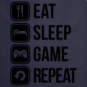 eat sleep game repeat T-shirts - Forklæde