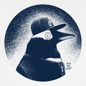 Vit Pinguin dressed in black T-shirts - Basebollkeps