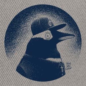 Grau meliert Pinguin dressed in black Pullover & Hoodies - Snapback Cap