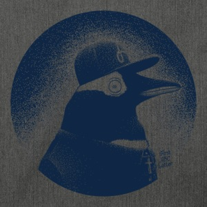 Grau meliert Pinguin dressed in black Pullover & Hoodies - Schultertasche aus Recycling-Material