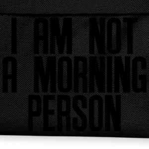 I am not a morning person T-shirts - Rygsæk til børn