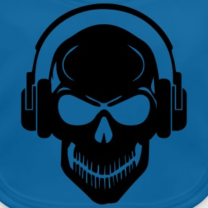 Skull with Headphones - Rave - Electro - Hardstyle Tee shirts - Bavoir bio Bébé
