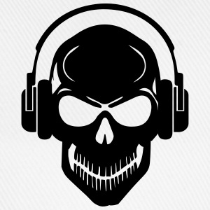 Skull with Headphones - Rave - Electro - Hardstyle Other - Baseball Cap