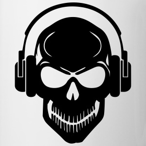 Skull with Headphones - Rave - Electro - Hardstyle Other - Mug