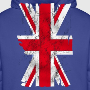 united kingdom grunge flag 02 T-Shirts - Men's Premium Hoodie