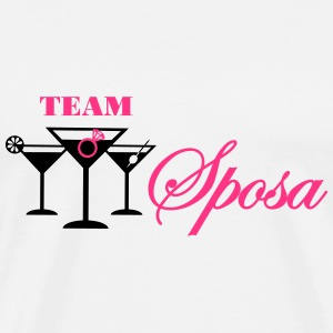 team sposa cocktail con anello Top - Maglietta Premium da uomo