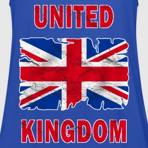 united kingdom grunge flag T-Shirts - Women's Tank Top by Bella